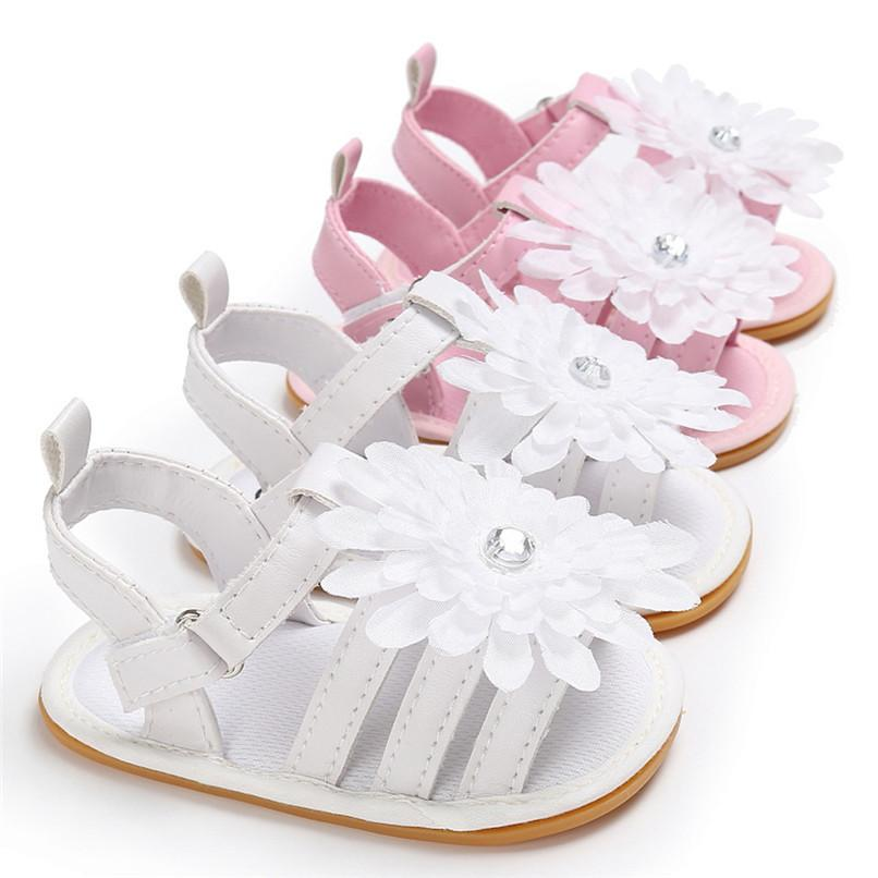 be24ea793 Summer Baby Girl Shoes Newborn Toddler Baby Solid Flower Sandals Soft Sole  Anti Slip Shoes Baby Sandals M8Y14 Cute Boots For Girls Kid Shoes Online  From ...
