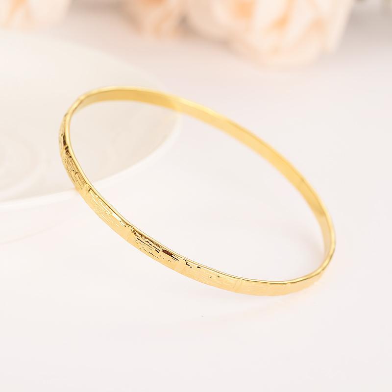 Fashion Dubai Bangle Jewelry Gold Color Dubai Bracelet for Men/Women Africa Arab Items wedding bridal gifts