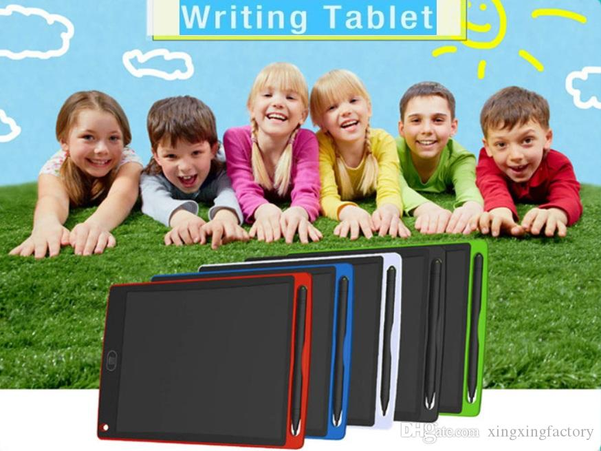 free DHL 8.5 inch LCD Writing Tablets Memo Drawing Tablet Electronic Graphics Boards for Kids Digital Notepad Pad with Pen for Office Home