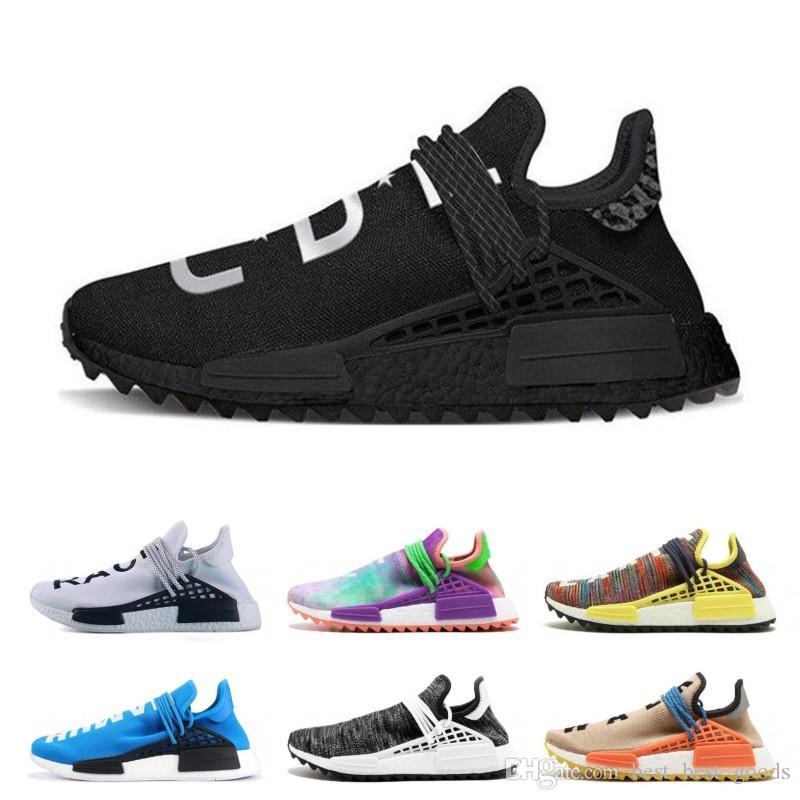 911c84f74 2019 Running Shoes For Men Creme X NERD Solar PacK Human Race Pharrell  Williams Hu Trail Trainers Men Women Runner Sports Designer Shoes Sneaker  From ...