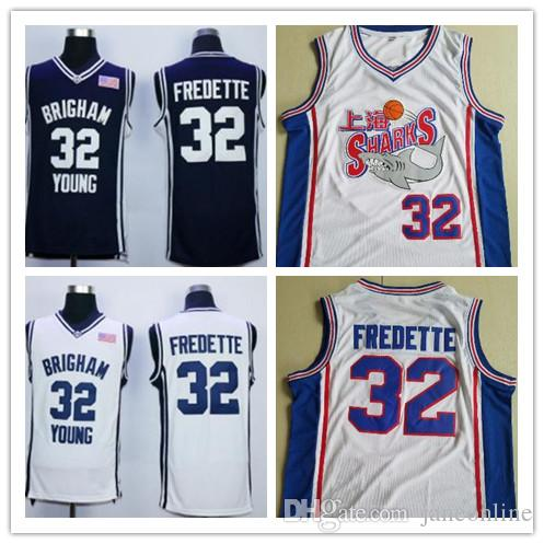 watch 26f7e 42af3 NCAA Brigham Young Cougars Jimmer Fredette College Basketball Jersey Navy  Blue White Jimmer Fredette Shirts Shanghai Sharks Jerseys