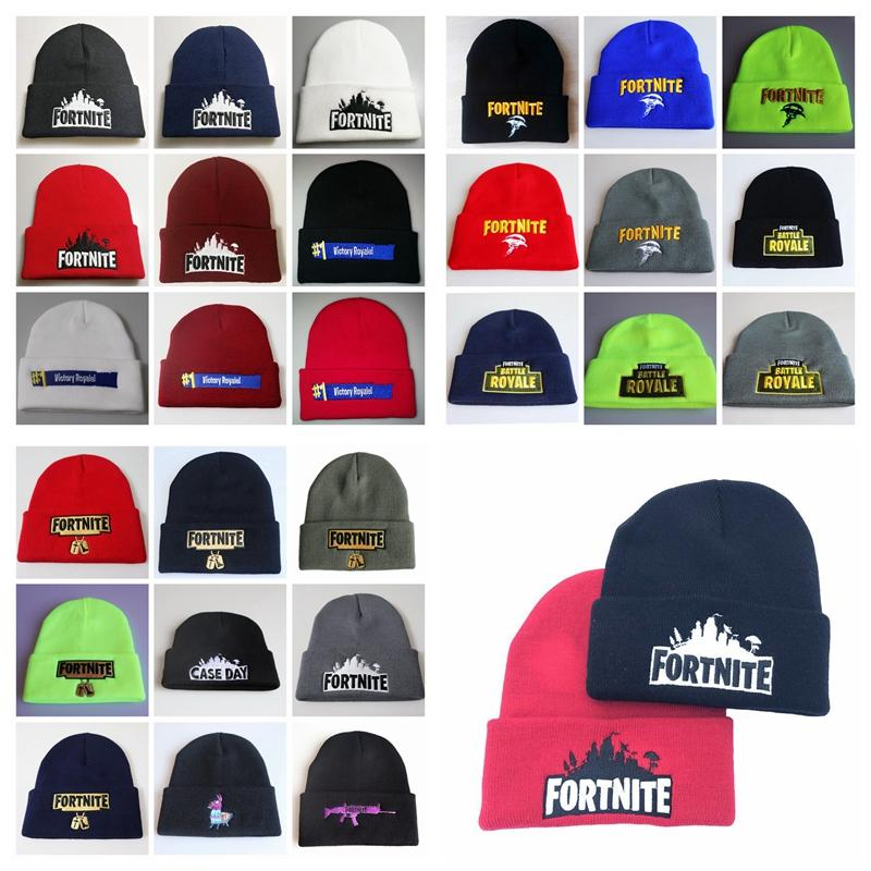 b294e6721aa9d 2019 Fortnite Battle Knitted Hat Hip Hop Embroidery Knitted Costume Cap  Winter Soft Warm Girls Boys Skuilles Beanies Big Kids Hat From Toy dh
