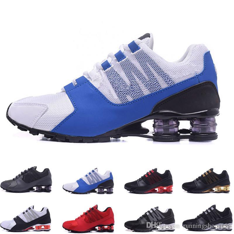 code promo 2e025 e5985 Original Shox Avenue 802 803 Mens Running Shoes Athletic Outdoor Walk Shoes  Chaussure Homme Shox Nz Men Designer Trainers Tn Plus Eur40-46
