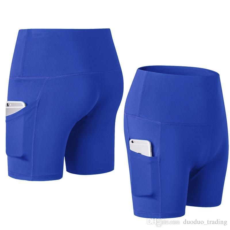 f949ace72a0f8 Women Sport Shorts High Waist Running Shorts Women Fitness Clothes Pocket  Yoga Shorts Female volleyball Athletic Short Sport Femme