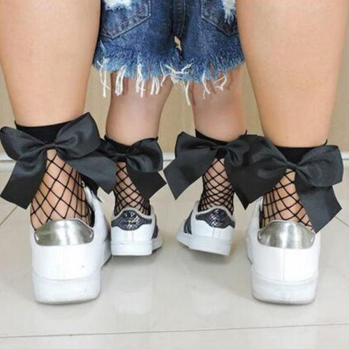 8c2e2e09a78d9 2019 Women Baby Girls Kids Mesh Socks Bow Fishnet Ankle High Lace Fish Net  Vintage Short Sock Fashion Summer Sale One Size C190416 From Shen07, ...
