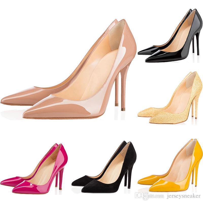 caca9a735 Compre Zapatos De Diseño De Zapatillas De Deporte So Kate Styles Zapatos De  Tacón Alto Calzoncillos Rojos Negro De Lujo Desnudo 10 CM Bombas Con Punta  De ...