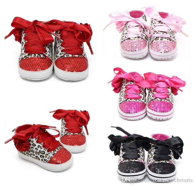 d09898eb1750 My First Walkers For Baby Girls Sequins Glitter Lace Up Shoes for Infants  First Shoes Boutique baby shoes baby sneakers Christening Gifts