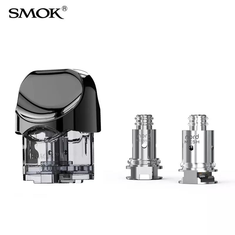 SMOK Nord Pod Cartridge 3ml / 2ml with Nord 1 4ohm Regular 0 6ohm Mesh Coil  Replacements Core heads for Nord Kit 100% Authentic