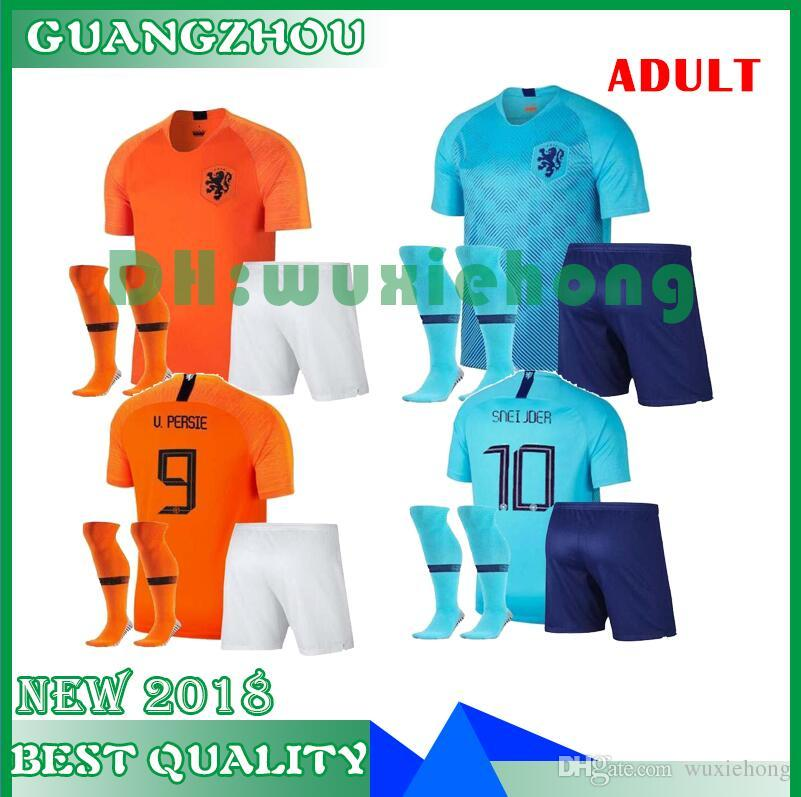 2019 NEWS 2018 19 NED Soccer Jersey Home Orange 2019 NL National Team JERSEY  Memphis SNEIJDER V.Persie Dutch Football Shirts Adult Kids Kits From  Wuxiehong 67f6a9e77