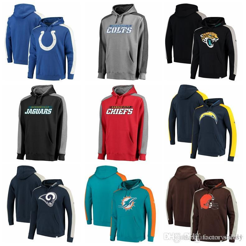sports shoes 0b37a f44a2 NEW 2019 Luxury sweatshirt Men Brand hoodie Colts Jaguars Chiefs Chargers  Rams Dolphins Iconic Pullover Hoodie