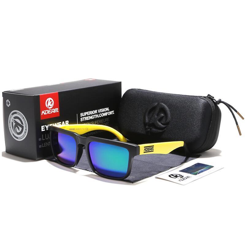 1c327ae93a NEW Europe and the United States TIDE sunglasses UV400 Square Sports  Sunglasses Skateboard Colorful glasses Men women Polarized Sunglasses