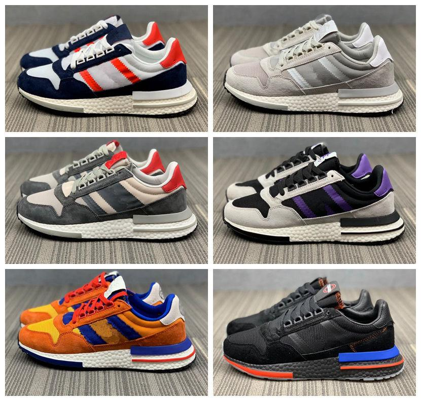 finest selection 79ebc 9f050 2019 New Hot ZX 500 RM Running Shoes Goku Men 500 ZX500 OG The Dragon Ball  Grey Blue Black Womens Mens Designer Sneakers Casual Shoes 36-45