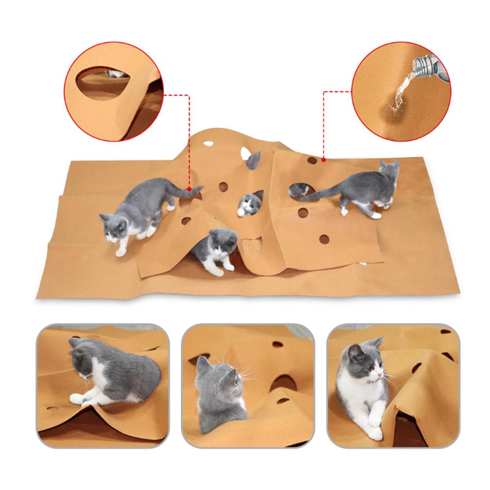 2019 Cat Hiding House Durable Holed Blanket Play Mat Hide Seek Carpet With Holes Scratch Resistant Pet Cat Toy From Isaaco, $34.62 | DHgate.Com