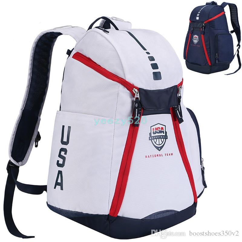 3788d72b442 Brand New USA National Team Designer Bags Basketball Backpack Men ...