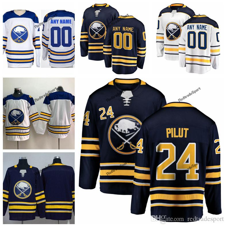 finest selection 99eea e653a 2018 Winter Classic Lawrence Pilut Buffalo Sabres Hockey Jerseys Mens  Custom Name 24 Lawrence Pilut Stitched Shirts S-XXXL