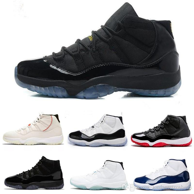 best website 0d172 3868c Mens Basketball Shoes 11 11s Platinum Tint Concord 45 Gym Red Midnight Navy  Bred Space Jam Men Women Designer Sneakers Sports Size 7 13 Shoes Jordans  ...
