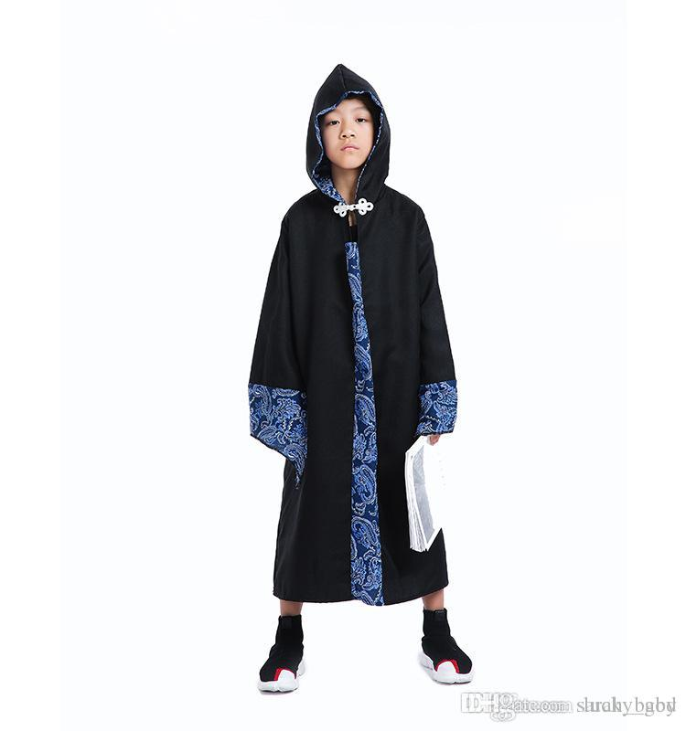2018 new Halloween cosplay costume wizard robes hooded costume children's dance party show costumes Baby & Kids Clothing Special Occasi