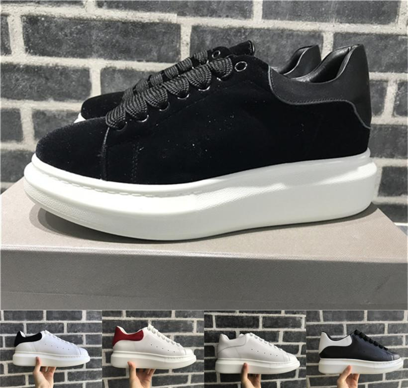 Black Velvet Platform Classic Casual Shoes Casual Sports Skateboarding Shoes Mens Womens Sneakers All Leather Dress Shoe Sports Tennis