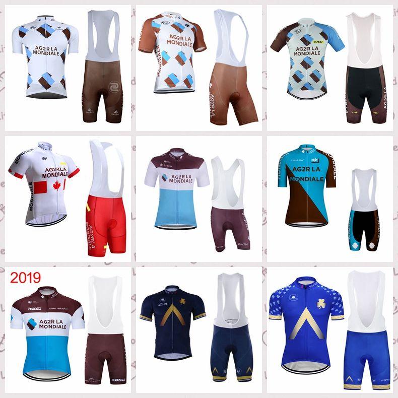 f46478dbc AG2R Aqua Blue Team Cycling Short Sleeves Jersey Bib Shorts Sets Cycling  Jersey 2019 Quick Dry Pro Bicycle GEL Pad Ropa Ciclismo N22603 Womens  Cycling ...