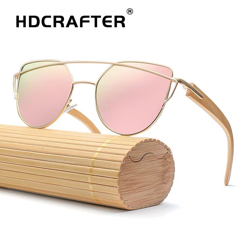 ba961392aa Wholesale Eye Sunglasses Women Brand Designer Vintage Sunglasses Ladies  Bamboo Sun Glasses Retro Shades Oculos De Sol Feminino UV400 Online with ...