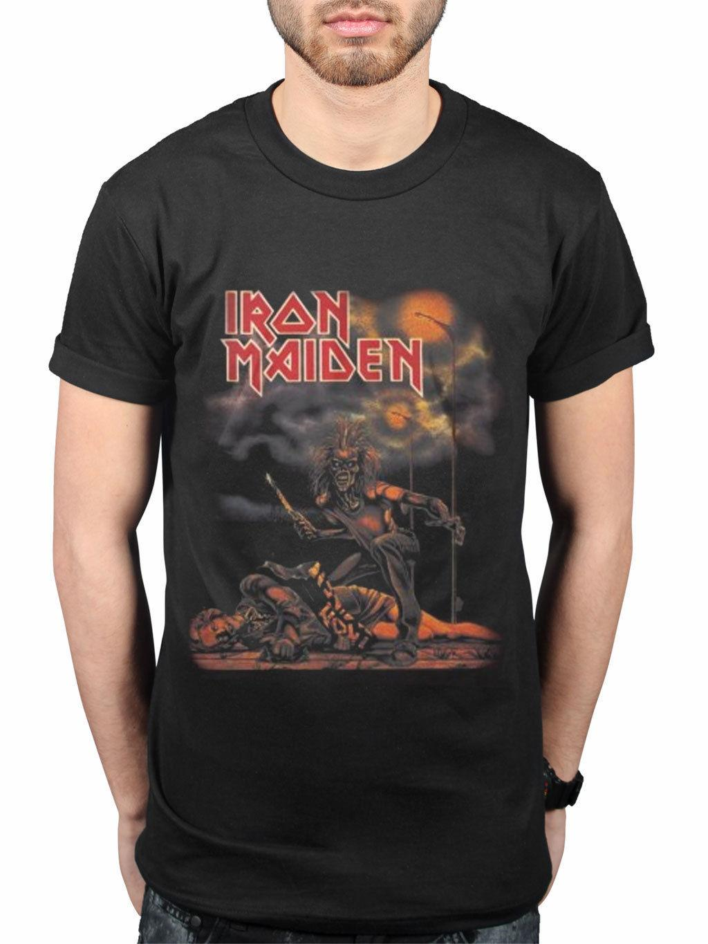 7edfee9204 Official Iron Maiden Sanctuary Killer NEW Graphic T Shirt Rock Metal Band  Merch Funny Unisex Casual Tshirt Top T Shirt Designers Business Shirt From  ...