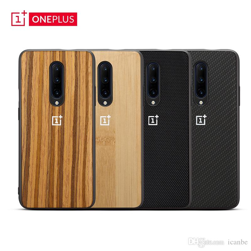 super popular 601db a18c6 Oneplus 7 Pro Case Bamboo Texture Nylon Cases Carbon Fiber Full Cover  Shockproof Protective Cases For One Plus 7 6 6T 5 5T Cellphones
