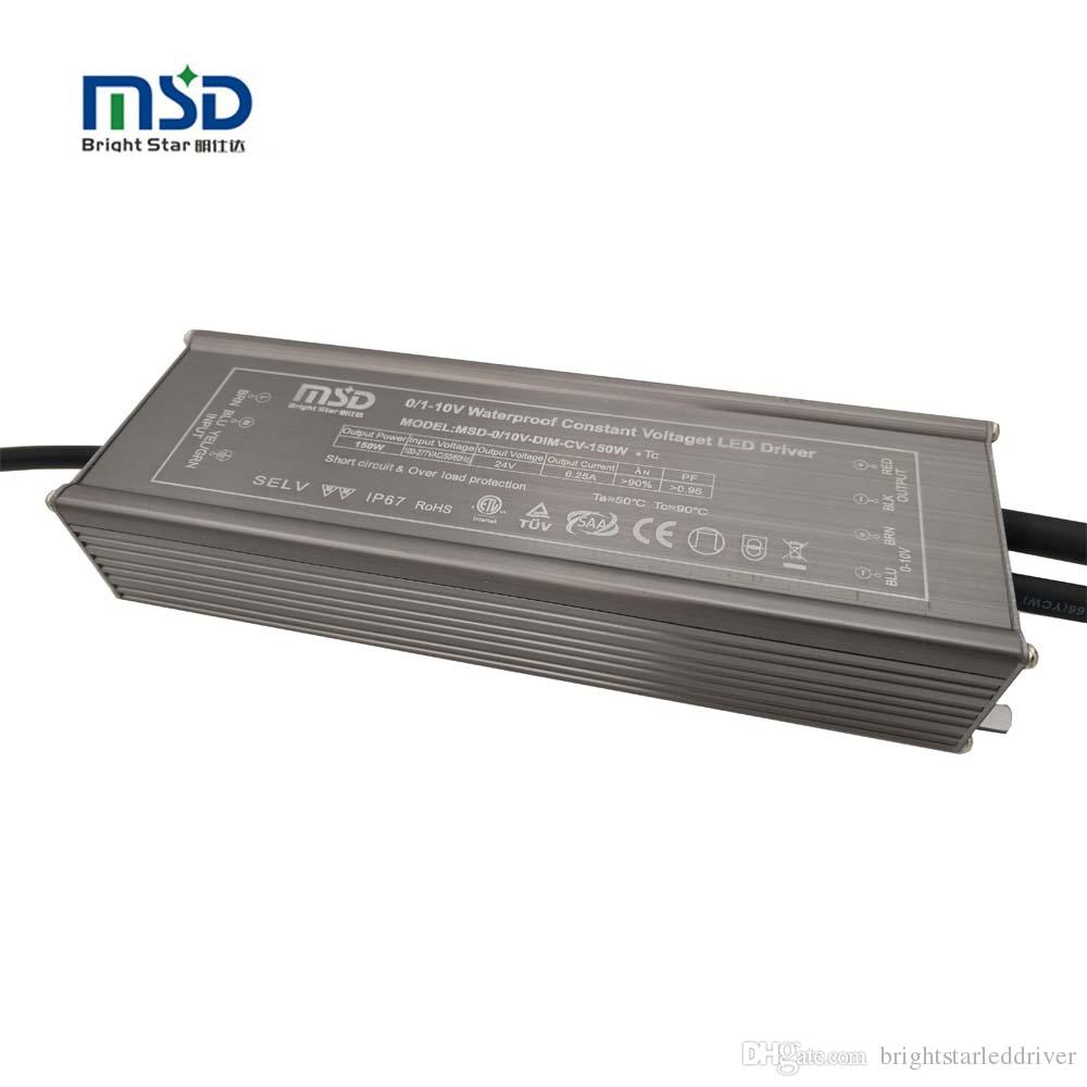 constant voltage dimmable led driver 12v 300w 0-10v pwm dimming waterproof  electronic led transformer