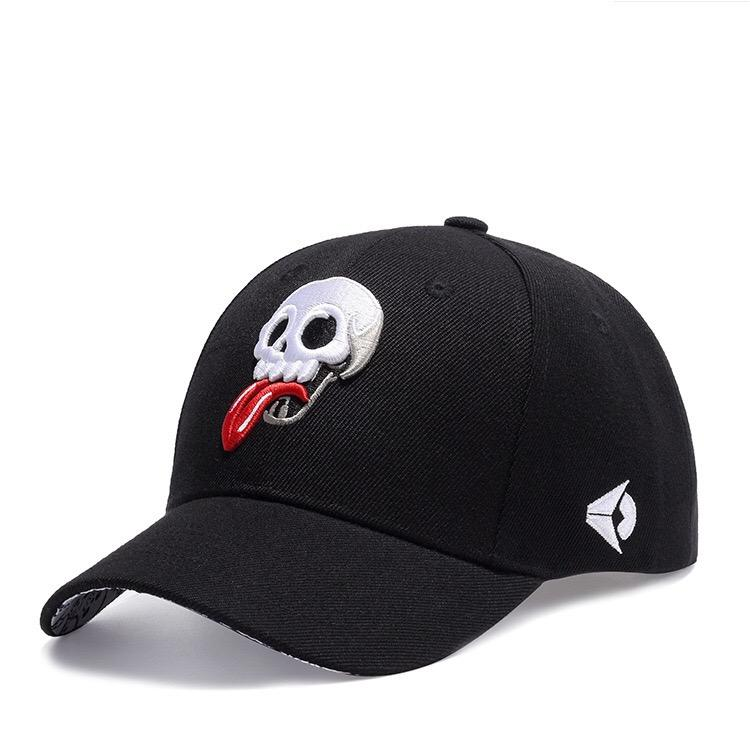 new fashion curved visor for man and woman street dance cap ball cap skull embroidery free shipping