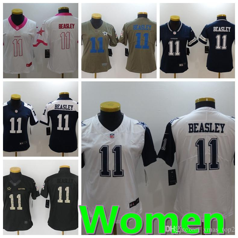 2d072a2d Women 11 Cole Beasley Dallas Jersey Cowboys Football Jersey 100% Stitched  Embroidery Cole Beasley Color Rush Football Stitching Women Jersey