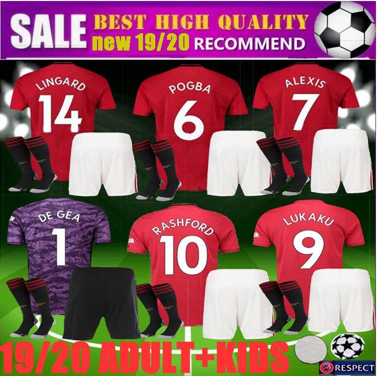 b075dea8d 2019 2019 2020 Adult Kids POGBA Manchester Soccer United Jerseys Utd 19 20 Martial  RASHFORD ALEXIS Men Goalkeeper Football Kit LUKAKU FRED Shirt From ...