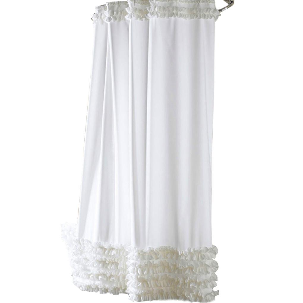2019 3 Size Hot Design Ruffles Shower Curtain Liner Water Repellent Mildew Free Polyester Bathroom C18112201 From Mingjing03 3076