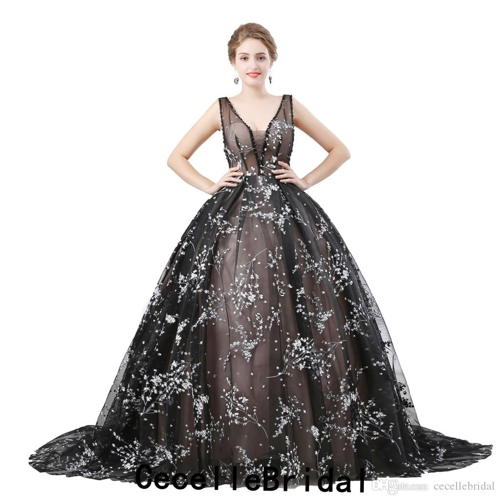 Black vintage lace wedding dresses much