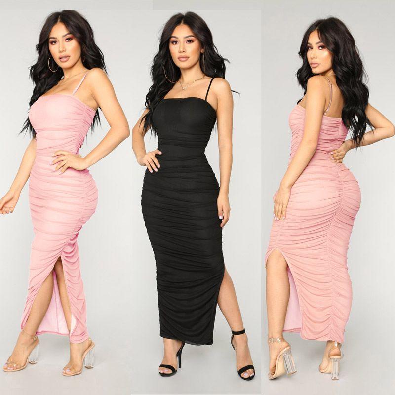 8e5e132778 Hot Body Ankle Length Long Clothing Women Night Dress Sexy Black Asymmetric  Dress Clubwear Disco Dress Lady Dresses Plus Size Evening Dresses Plus Size  ...