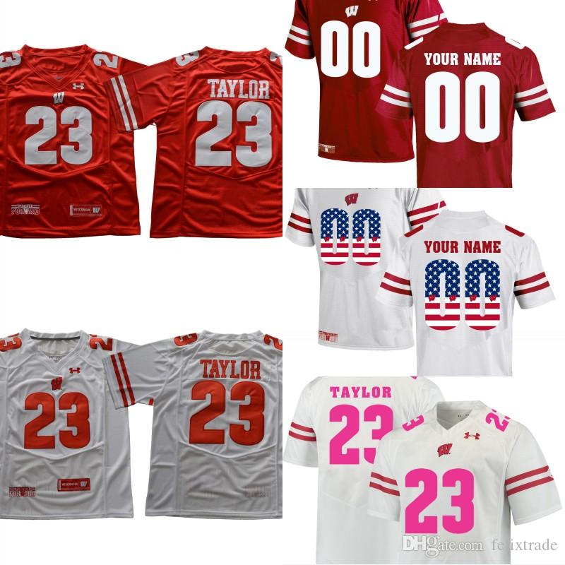 14efbbf9e80 2019 Wisconsin Badgers 23 Jonathan Taylor NCAA College Football Jerseys  Shirt Men Women Youth Customizable Double Stiched From Felixtrade, $20.32 |  DHgate.