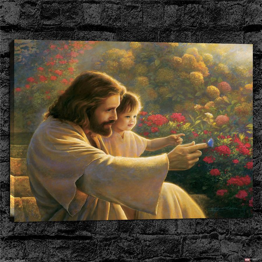 Jesus Taking A Selfie,HD Canvas Printing New Home Decoration Art Painting/(Unframed/Framed)