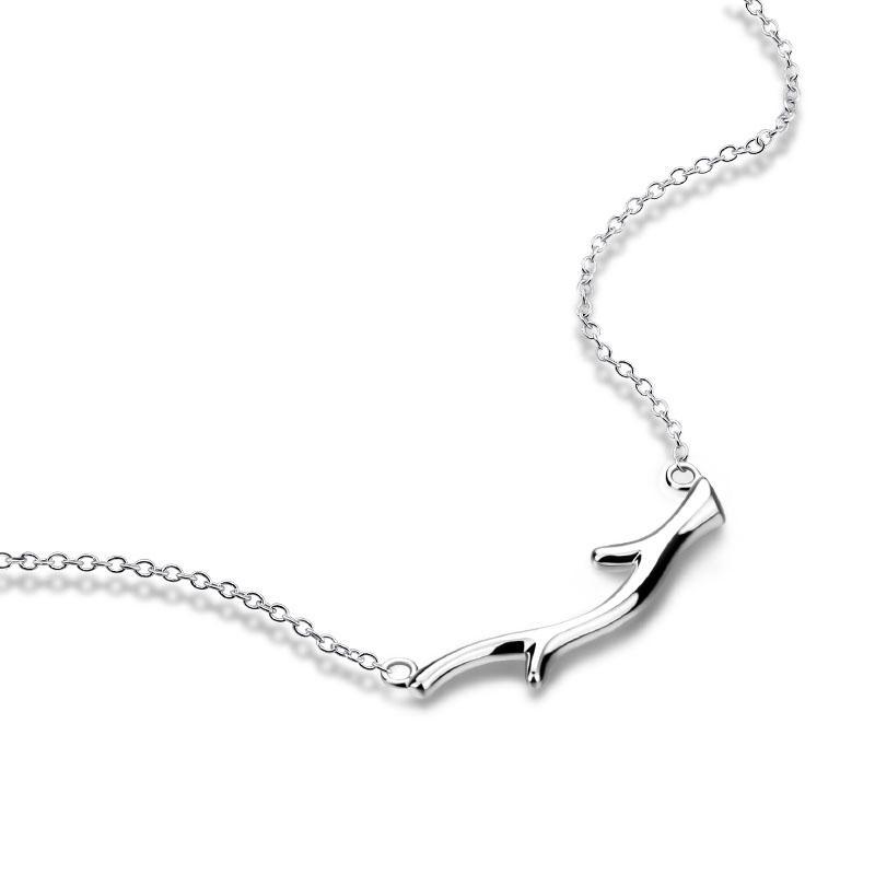 4d05db709164 Compre Rama De Árbol Colgante 100% 925 Collar De Plata Esterlina Cadena De  Clavícula Simple Moda Popular Joyería De Plata Al Por Mayor A  21.27 Del ...