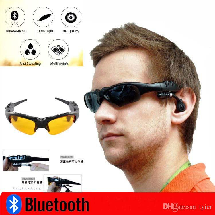 Smart Glasses Bluetooth V4.1 Sunglass 4 colors Sun Glass Sports Headset MP3 Player Bluetooth Phone Wireless Earphones Bluetooth Eyeglasses