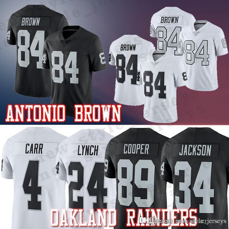 online store 2511d d9ebc 84 Antonio Brown Jersey 2019 Oakland MEN Rainders 4 Derek Carr 24 Marshawn  Lynch 34 Bo Jackson Football Jerseys