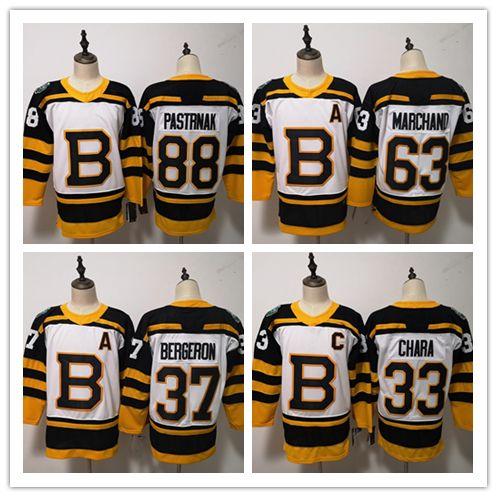 low priced f87e3 ecc52 Mens 33 Zdeno Chara Jersey 37 Patrice 63 Brad Marchand 88 David Pastrnak  Hockey Jerseys