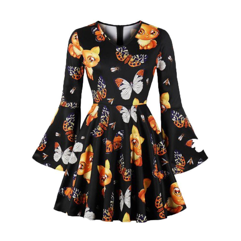 8d0f7839376 Summer Dress Women Boho Floral Print Mini Dress Flare Sleeve Korean Dresses  Casual Korean Clothes 2019 Dames Jurken Vestidos Casual White Summer Dress  White ...