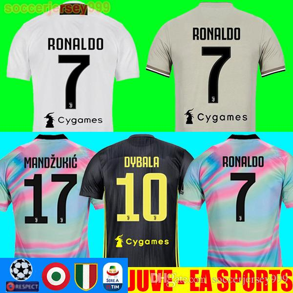 8cdb31145 Thailand RONALDO 18 19 Juventus Soccer Jersey Football Shirt ...