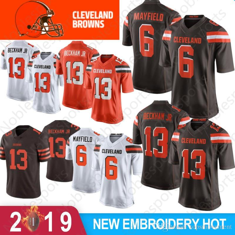 info for 5a333 3f031 Stitched 13 Odell Beckham Jr Jersey 6 Baker Mayfield 80 Jarvis Landry 95  Myles Garrett Cleveland Nick Chubb Ward Thomas Peppers Browns Youth