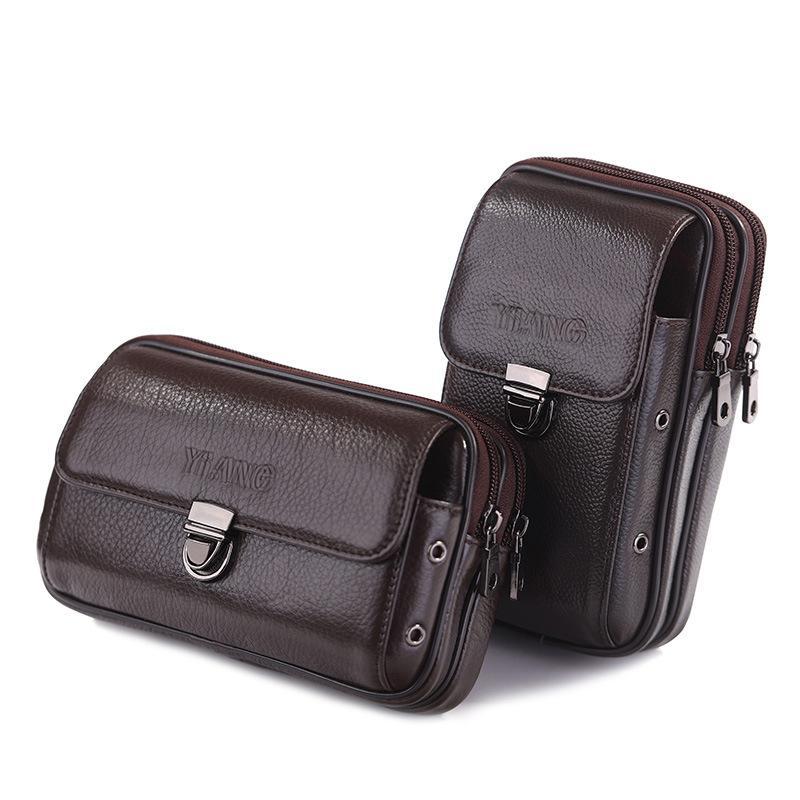 d1e305f970e19 Real Leather Men Waist Belt Bum Bag Phone Coin Purse Pocket Belt Bum Pouch  Pack Multifunction Flip Cigarette Case Drop Leg Bag Mens Fanny Pack  Tactical ...