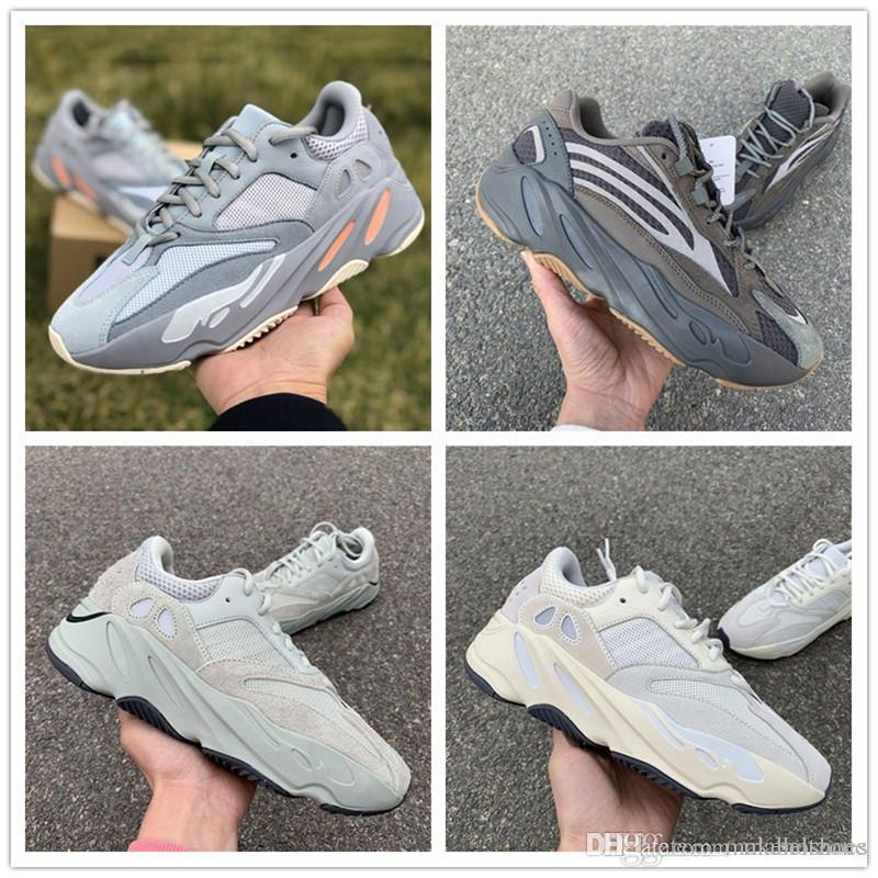 check out 28ad6 4f7a2 2019 Inertia Geode Salt Analog 700 v2 Running Shoes Kanye West 3M Designer  Basf New Fashion Sports Yeezy Boost Casual Trainers