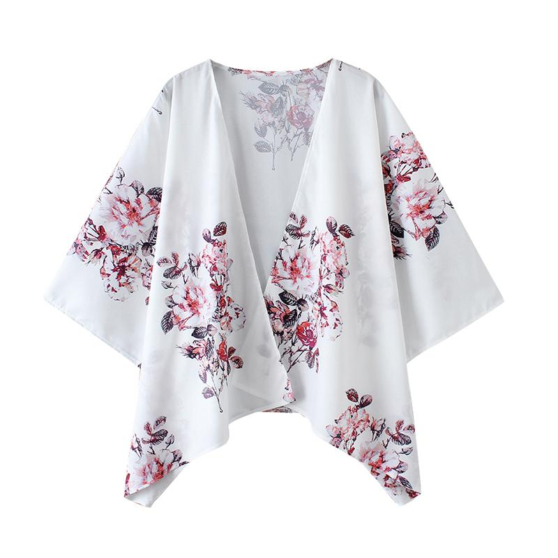 0aaff787c86 2019 2019 Womens Tops And Blouses Colorful Floral Print Summer Beach Kimono  Oversize Cover Ups Female Kimono Cardigan Plus Size 3XL From Zhenhuang