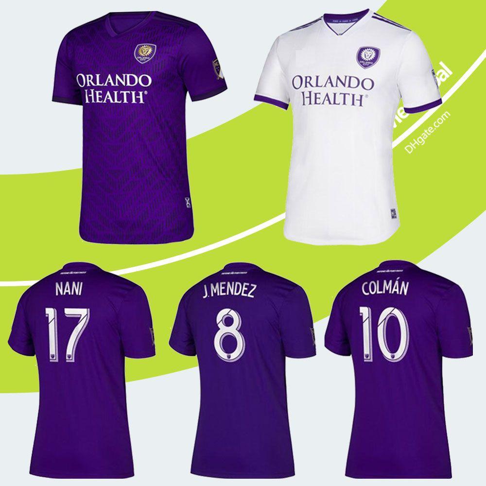 best service 0e81e 5d22b 2020 Adult MLS Orlando City Soccer Jerseys Orlando Kids Kit 2019-20 COLMAN  MENDEZ Soccer Shirt DWYER NANI Youth Football Uniform Shirts