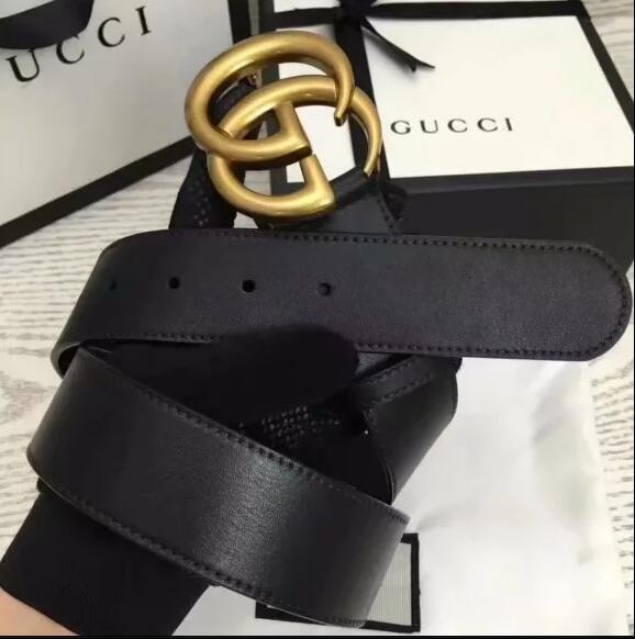 d00cdba9001 2019 Women GUCCI Men Leather Leather Belt Smooth Buckle Youth Plaid ...