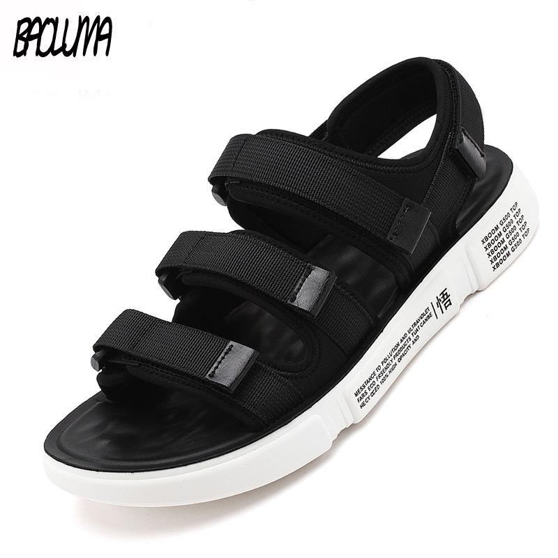talla 40 diseño hábil apariencia estética Unisex Nueva Moda Verano Zapatos Para Hombre Sandalias de Gladiador  Plataforma de Punta Abierta Sandalias de Playa Estilo Roma Negro Gris Lona  Hombres