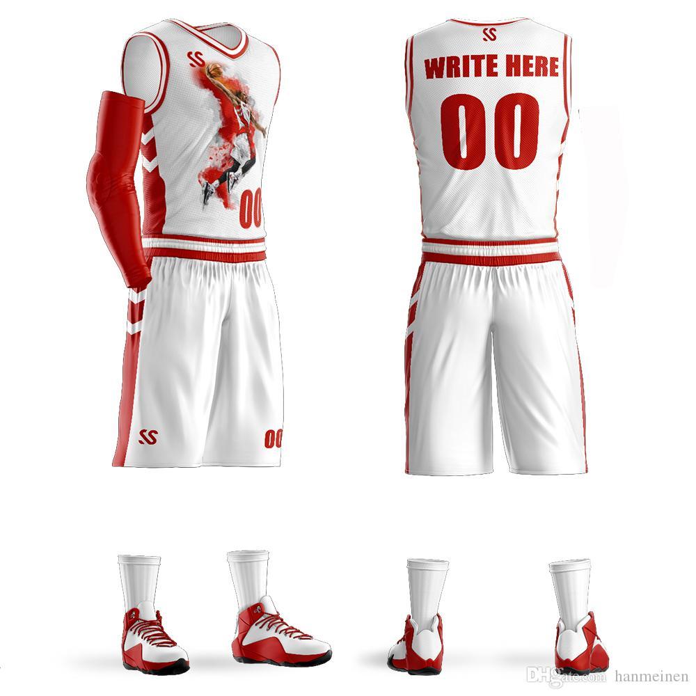 e208d8b1 Compre Kits De Uniformes De Baloncesto Personalizados Para Hombres  Juveniles Ropa Deportiva Sublimación En Blanco Cualquier Color Equipo De  Baloncesto ...