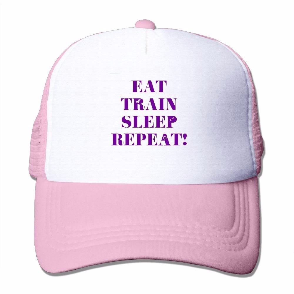 4ede8caff43 Adults Eat Train Sleep Repeat Purple Mesh Caps Hiking Trucker Caps Women  Cute Unconstructed Baseball Hats Hats For Sale Neweracap From  Happycustomized